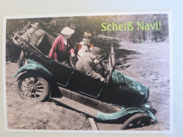 """Postkarte Karte """"Scheiß Navi!"""" Paloma"""