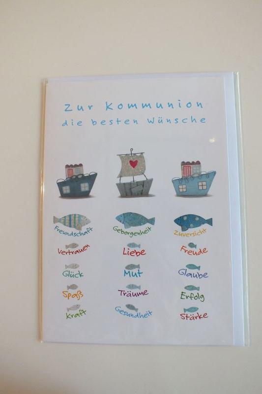 Klappkarte Zur Kommunion die besten Wünsche Gutschverlag