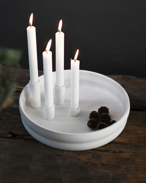 Nützlichdekoration - BOLMEN Kerzenhalter Weiß 30 cm Storefactory - Onlineshop Tante Emmer