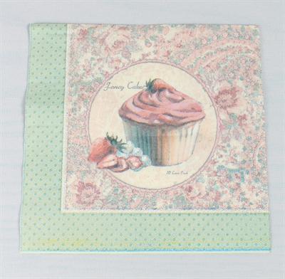 Partybedarfpartydeko - Servietten Muffins mit Erdbeeren La Finesse - Onlineshop Tante Emmer