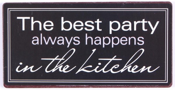 "Magnet ""The best party always happens in the kitchen"""