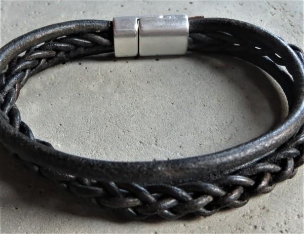 QOSS Armband JAAP vintage-schwarz für IHN, M