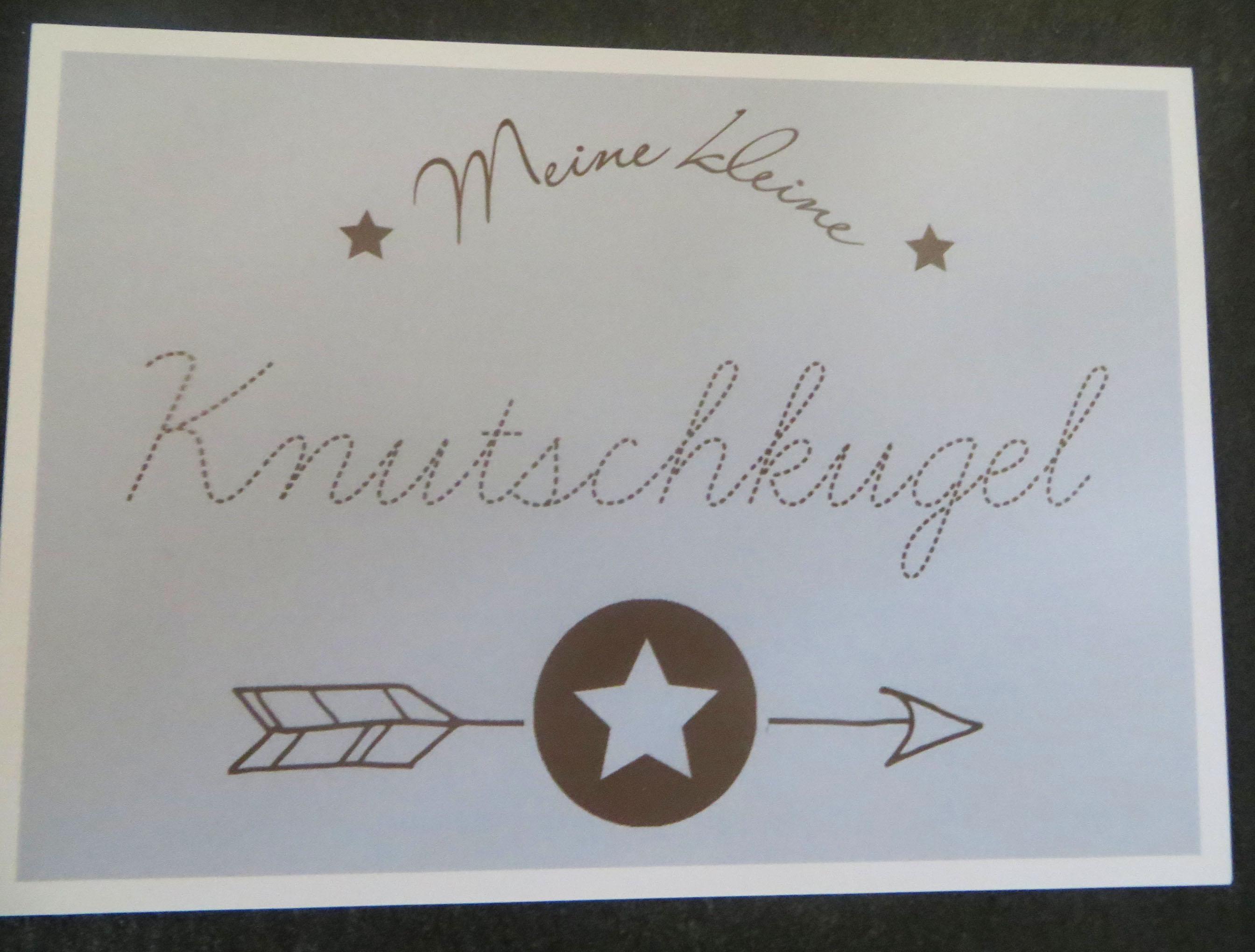 Karte Postkarte Meine kleine Knutschkugel