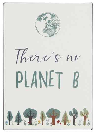 "Metallschild ""There is no planet B"" Ib Laursen ApS"