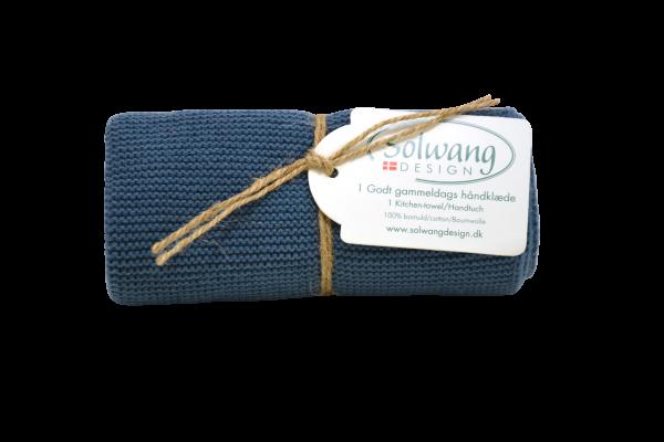 Küchentuch / Handtuch gestrickt, rustikal Dunkel - Blau