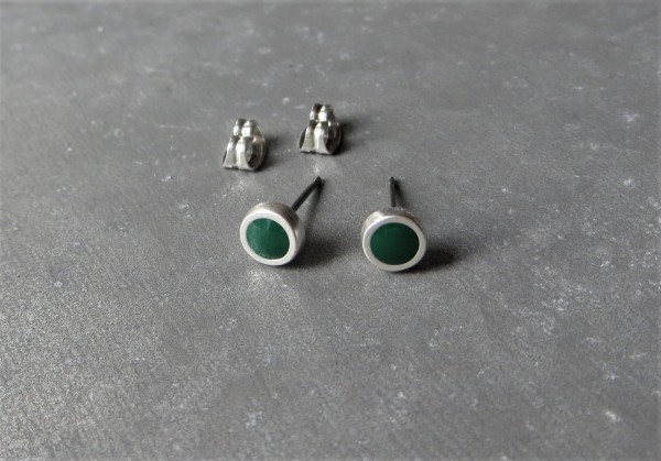 QOSS Ohrring Ohrstecker PIP, Smaragdgrün