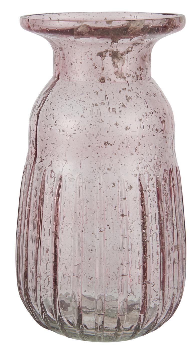 Nützlichdekoration - Hyazinthenglas Vase pebbled glass rosa Serie Stillenat Ib Laursen ApS - Onlineshop Tante Emmer