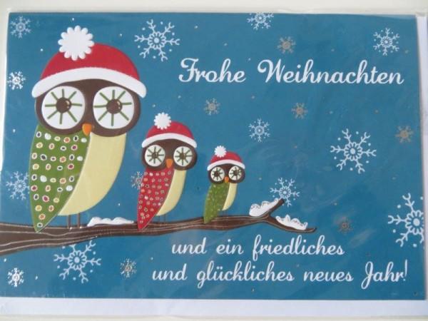 """Klappkarte Weihnachtskarte """"Frohe Weihnachten und ein friedliches ...."""" Kultura"""