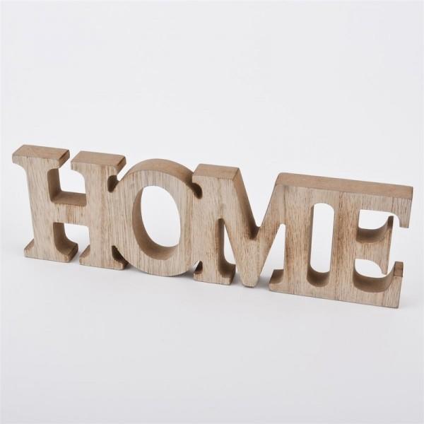 """Schriftzug """"HOME"""" aus Holz"""