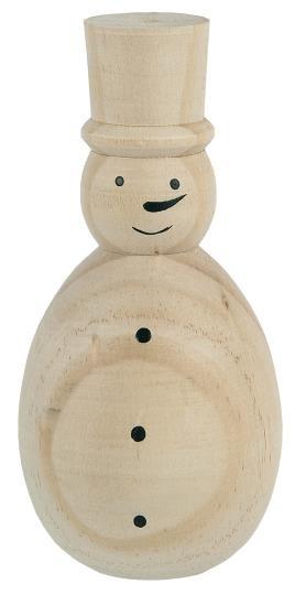 """Holzfigur """"Schnemmann"""", natur, stehend, handbemalt Ib Laursen"""