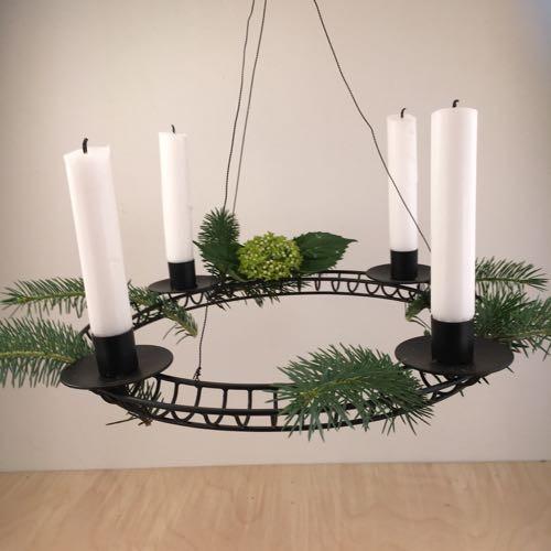 Adventskranz zum Aufhängen für schmale Kerzen