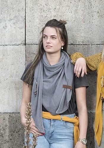 Knit Factory Dreieck-Schal LOLA, Light Grey