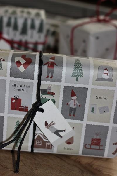 Weihnachts-Geschenkanhänger/ Karte - Wichtel-Schlittschuhläufer - Ib Laursen