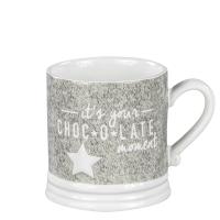 "Becher / Tasse weiß/grau ""It´s your chocolate moment"" Bastion Collections B.V."