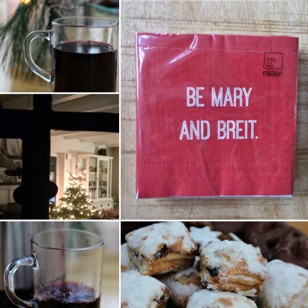 """Servietten DINING """"BE MARY AND BREIT."""", 25cm, räder"""