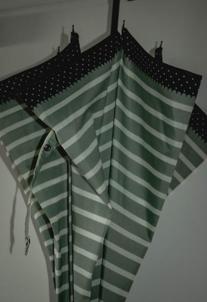 Regenschirm mint/grün-weiß gestreift