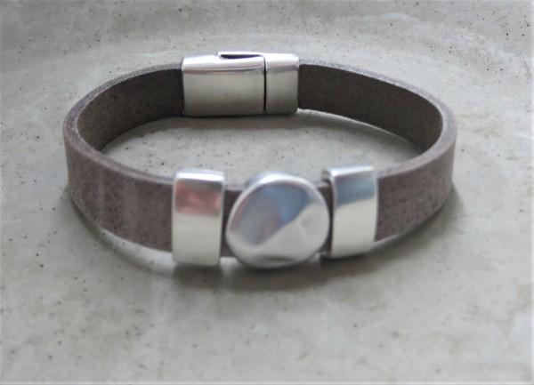 QOSS Armband KIM Grau-Silber, S