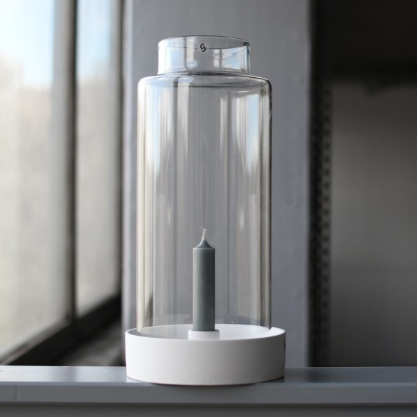 STORM Glaszylinder mit Rand, 13x30 cm, Storefactory
