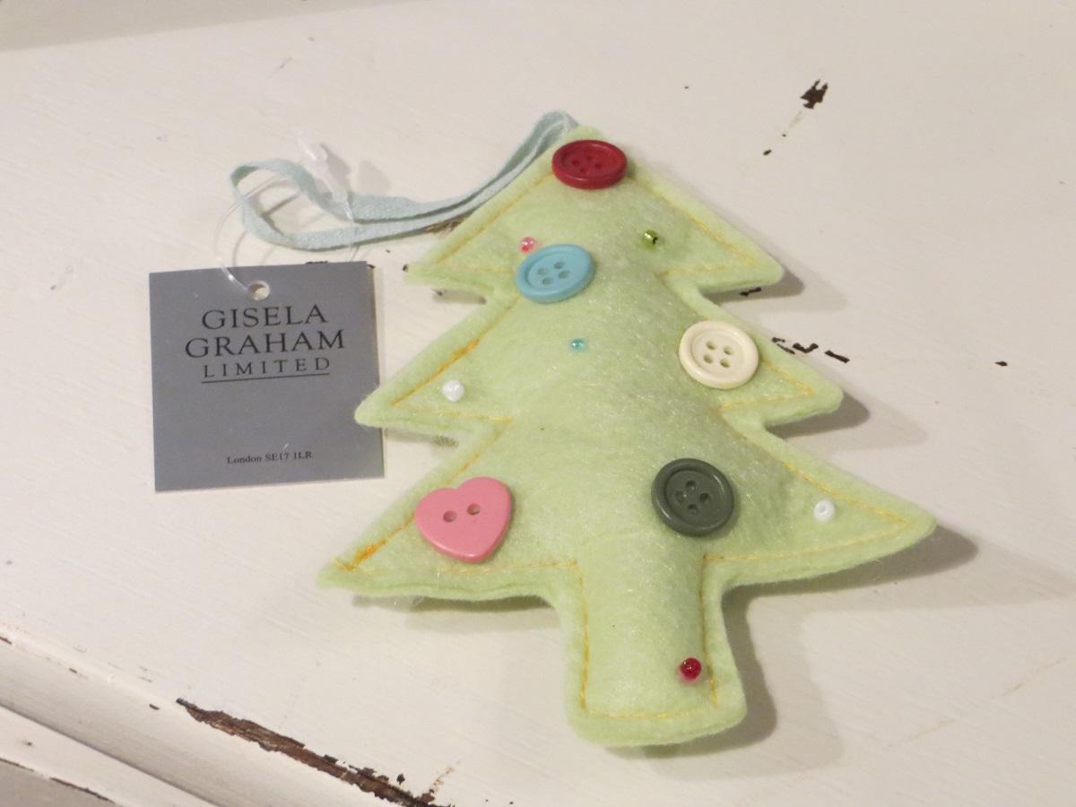 - Anhänger Tannenbaum aus Filz Motiv Weihnachtsbaum in grün Gisela Graham - Onlineshop Tante Emmer