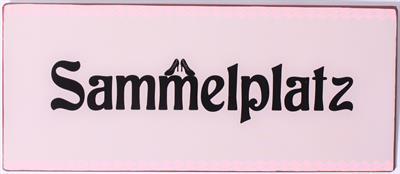 Metall Schild mit der Aufschrift Sammelplatz La Finesse