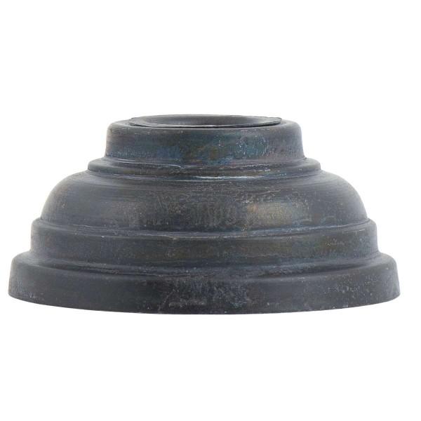 Kerzenständer/ Kerzenhalter für Stabkerze schwarz gerillt