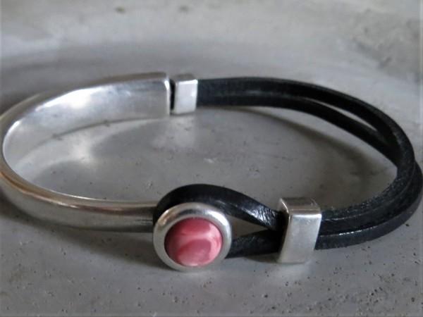 QOSS Armband EVA Vintage-Schwarz/ Rosa matt, XL