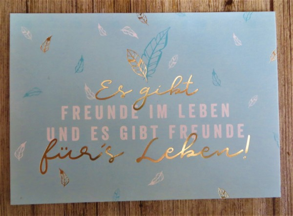 """Postkarte """"Es gibt Freunde im Leben und es gibt Freunde für´s Leben."""" VintageArt"""