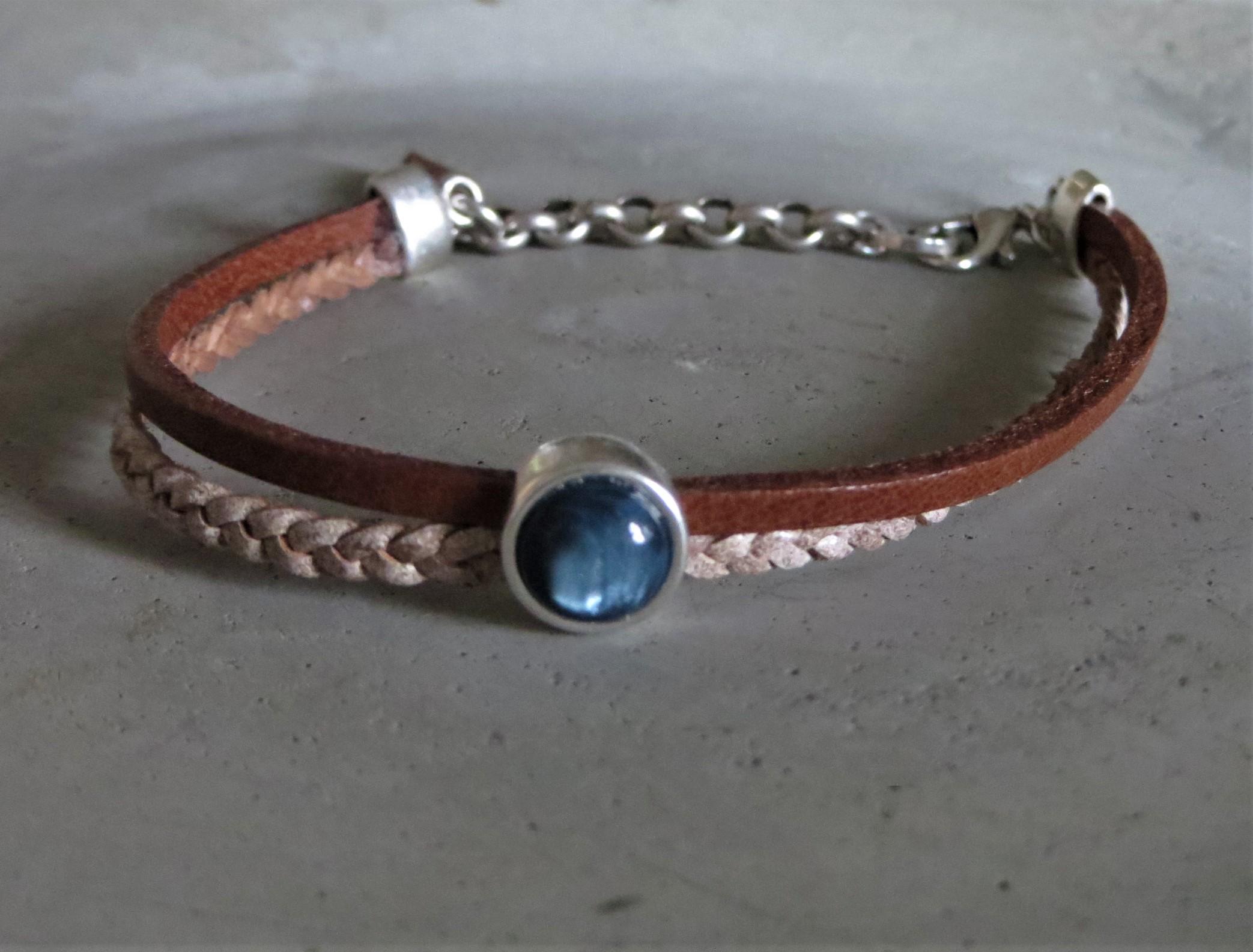 Armbaender - QOSS Armband FLEUR Braun Jeansblau onesize  - Onlineshop Tante Emmer