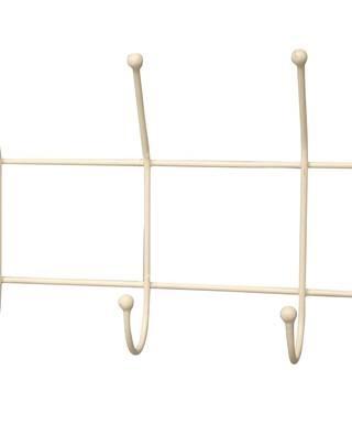 Garderobe Aufhänger mit 5 Haken in creme von Krasilnikoff