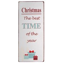 "Metall Schild ""Christmas the best TIME of the year"" von Ib Laursen ApS"