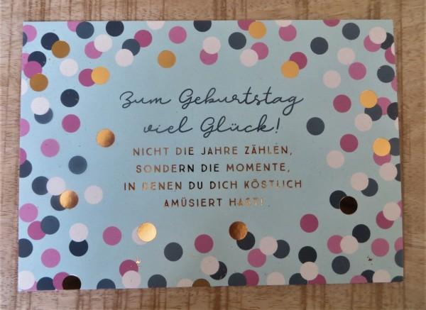 """Postkarte """"Zum Geburtstag viel Glück!"""" VintageArt"""