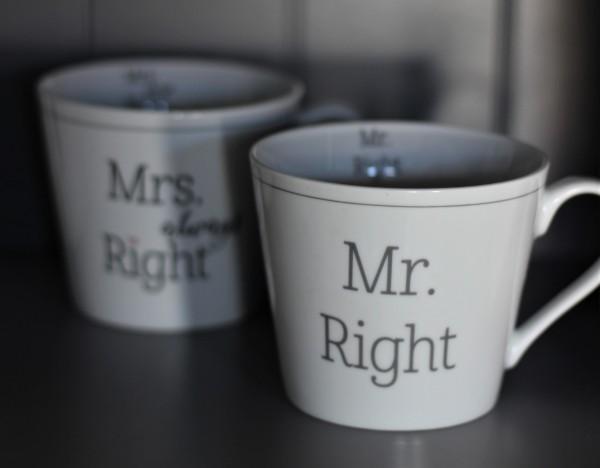"""Happy Cup Tasse """"Mr. Right"""" 400ml, Krasilnikoff"""