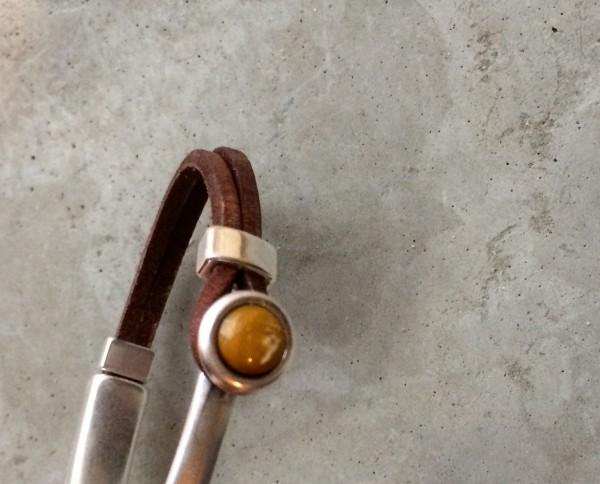 QOSS Armband EVA Braun-Ockergelb S