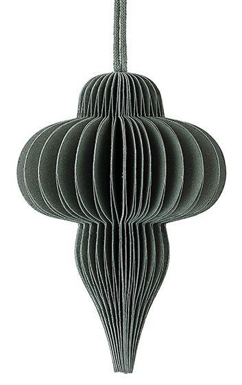 Ornament, 6x10 cm, Grün