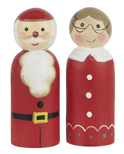 """Set """"Weihnachtsmann und Weihnachtsfrau"""" aus Hoz, handbemalt Ib Laursen ApS"""