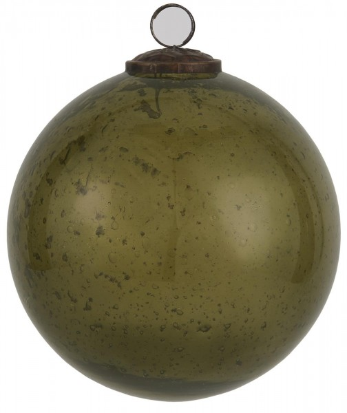 Weihnachtskugel pebbled glass olive 13,4 cm - Serie Stillenat - Ib Laursen ApS