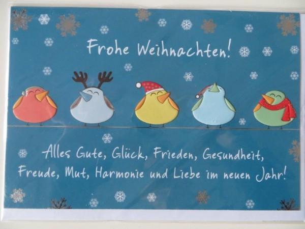 """Klappkarte Weihnachtskarte """"Frohe Weihnachten! Alles Gute, Glück ...."""" Kultura"""