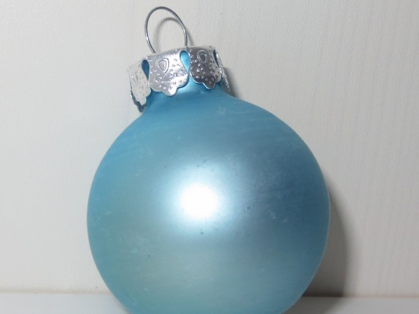 Christbaumkugel blau klein matt