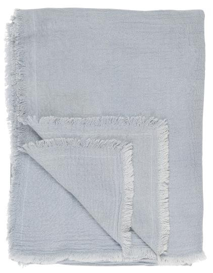 Ib Laursen Plaid/ Decke hellblau, doppelt gewebt