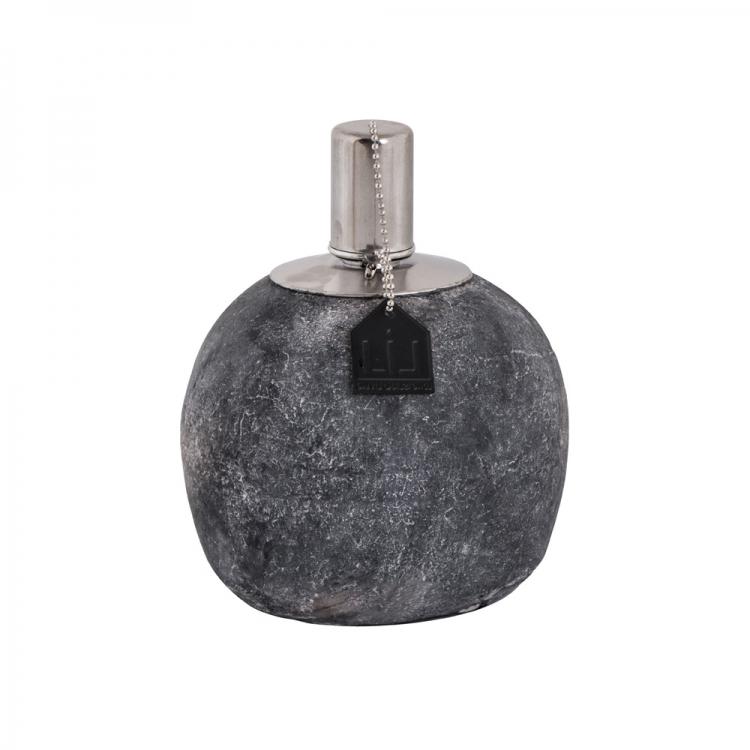 Windlicht aus Zement rund Größe S