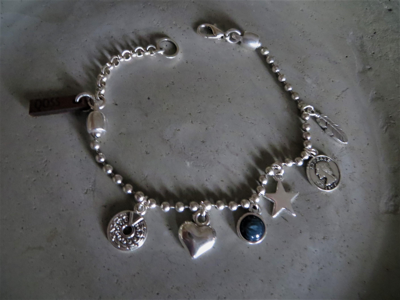 Armbaender - QOSS Armband ELINE3.0 Silber Jeansblau onesize  - Onlineshop Tante Emmer