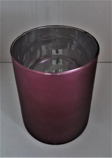 Windlicht aus Glas in beere , Höhe 10 cm