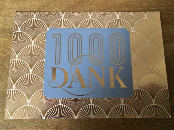 """Postkarte """"1000 Dank"""""""