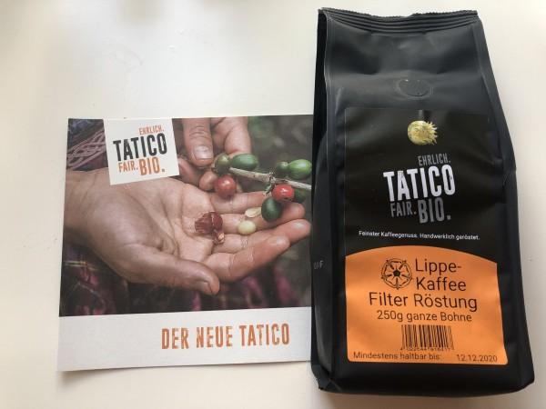 Tatico Kaffee, ganze Bohnen, 250 g, Lippe - Kaffee