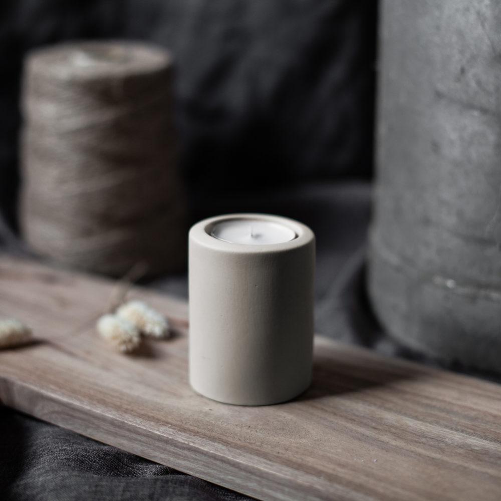 Nützlichdekoration - LEKVALL Kerzenhalter Teelichthalter Beige L 8 cm Storefactory - Onlineshop Tante Emmer