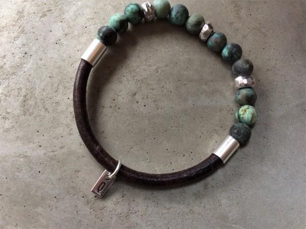 QOSS Armband TARA braun-türkis L