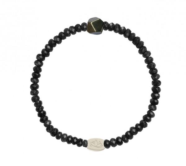 MAS jewelz Armband Schwarzer Stein / Pyrit