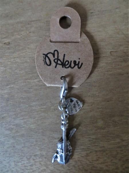 """Schlüsselanhänger """"Geige"""" 2,5 cm"""