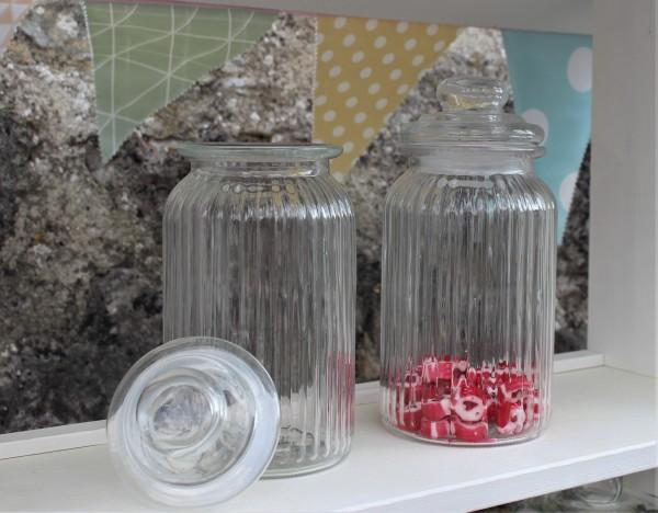 Ausleihe Glas für Candy Bar, rund, 10,5x23cm