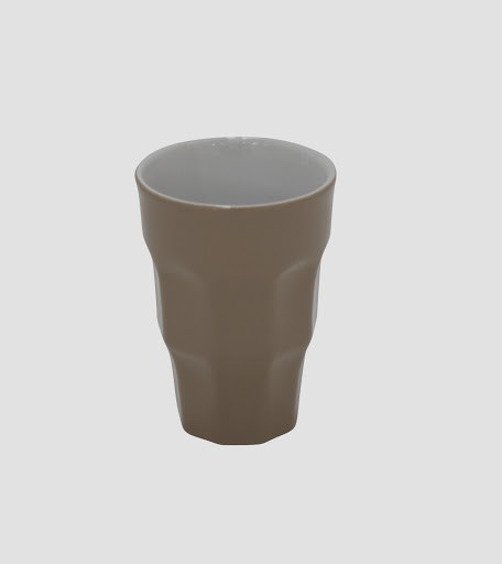 Mug Kaffeebecher in retro taupe